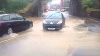 Flooding hits Craven Arms