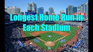 Longest Home Run In Each Stadium (Statcast Era)