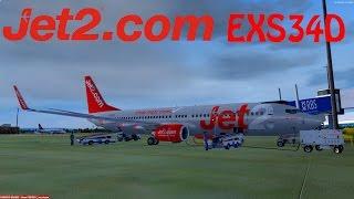 P3D V3 | VATSIM | Malaga - Glasgow | EXS34D | Full Flight