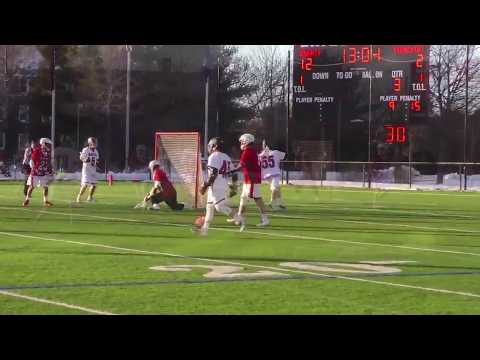 Bates Lacrosse BTB Pass to BTB Goal