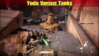 Yoda Versus Tanks - Star Wars Battlefront ll