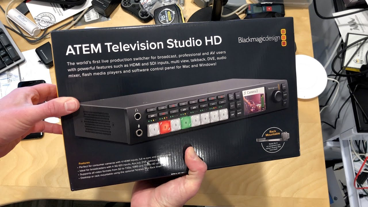 Blackmagic Atem Television Studio Hd Unboxing Youtube