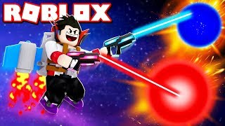 FLYING SUPER FAST IN JETPACK SIMULATOR WITH MOST POWERFUL LASER WEAPON IN ROBLOX (Slaying Edition)
