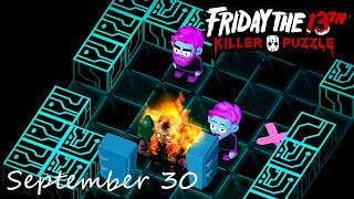 Friday the 13th Killer Puzzle Daily Death September 30 2020 Walkthrough