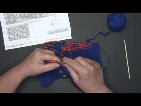 Camas Creek Yarn / Tacking Down Floats - YouTube