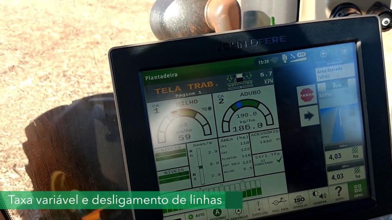 Sistema ISO6 ISOBUS com motores elétricos rodando na Fazenda Medianeira, em Naviraí – MS.
