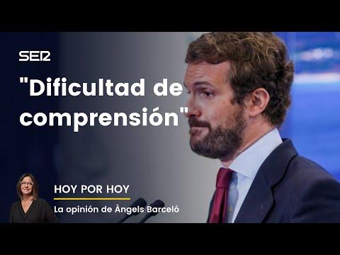 """El repaso de Àngels Barceló a la oposición de Pablo Casado: """"No deja de sorprender"""""""