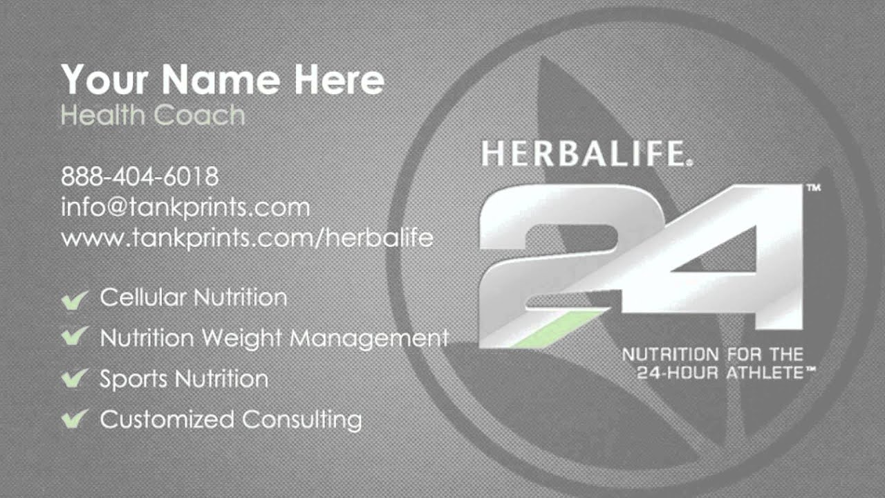 How to order Herbalife business cards from Tank Prints - YouTube