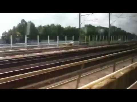 Met de trein van Amsterdam-Zuid naar Schiphol.