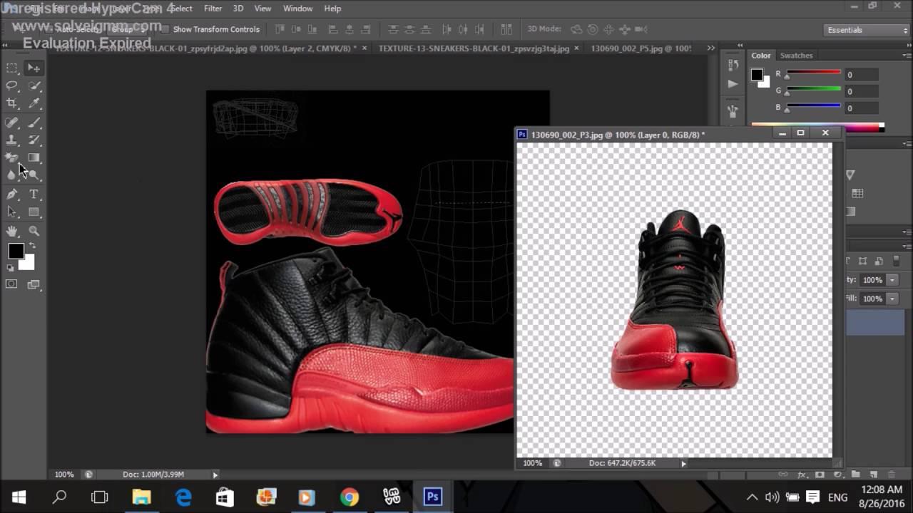 Imvu creating tutorial #6 How to create a shoe (Photoshop)