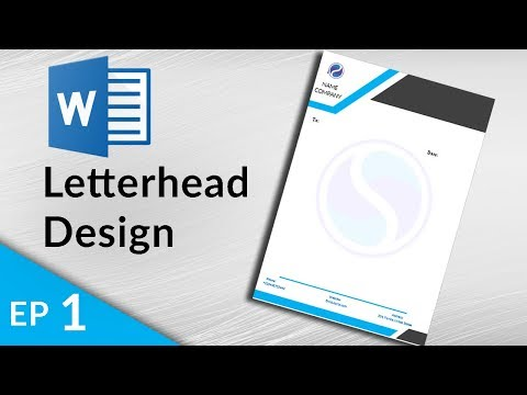 MS Word Tutorial - Letterhead Design In Ms Word 2019 - How To Make Letterhead