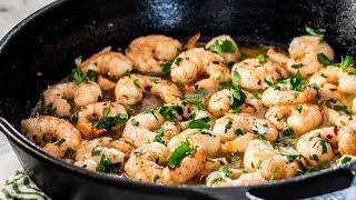 Garlic Butter Skillet Shrimp