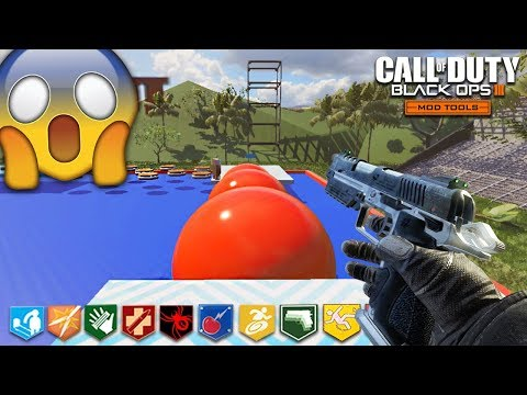 EXTREME PARKOUR ZOMBIES! (Black Ops 3 Wipeout Custom Zombies Map)