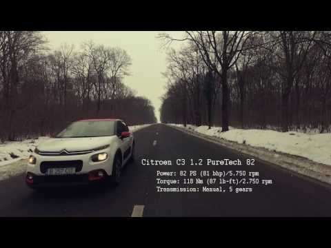 Citroen C3 New  2017 0-150 km/h Acceleration