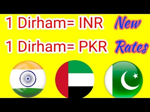 August 2018 - New Dirham rate for INR-PKR