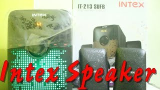 Intex IT-213 SUFB 2.1 Computer Multimedia Speakers (Black) Unboxing & Sound Test In Hindi