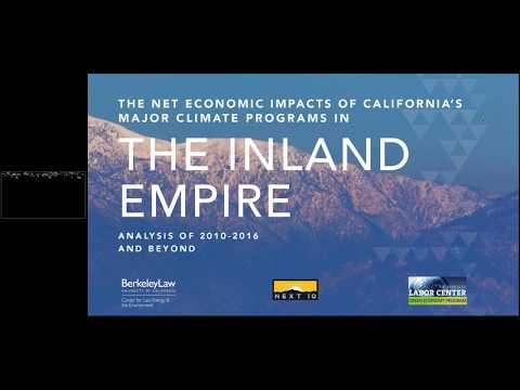 Webinar  Net Economic Impacts of California's Major Climate Programs in the Inland Empire