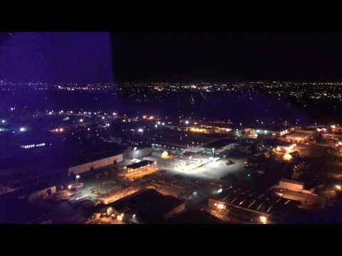 Night Landing at Perth Airport on a Virgin Australia A330 VA697
