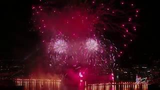 Feux d'artifice Genève 12 août 2017 - Drone