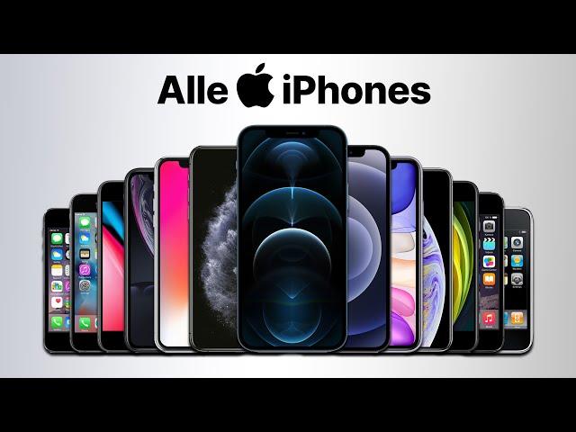 Alle iPhone Modelle / Generationen im Vergleich bis iPhone 12 Mini & Pro [Slideshow 2020 deutsch]