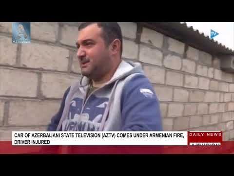 Car of Azerbaijani state television AzTv comes under Armenian fire, driver injured
