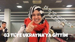 83 LİRAYA UKRAYNA'YA GİDİP 13 LİRAYA HOSTELDE KALDIM! Kiev'e gidiş/ilk gün - Ukrayna Vlog #1