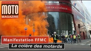 10 000 motards en colère rejettent le contrôle technique et l'interdiction de circulation à Paris