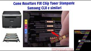 Come Resettare FIX Chip Toner …