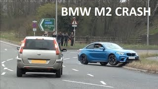 BMW M2 CRASH TRYING TO SHOW OFF AT A CAR SHOW
