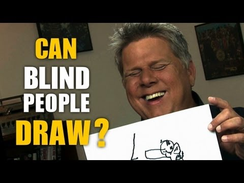 Watch This Blind Guy Draw Various Objects