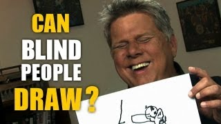 Can Blind People Draw? (Blind Man Draws A Cat, A Car, & Himself)