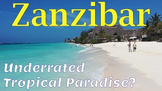 Zanzibar 4K.  Tropical Paradise in Africa. Beaches. Sights. People.