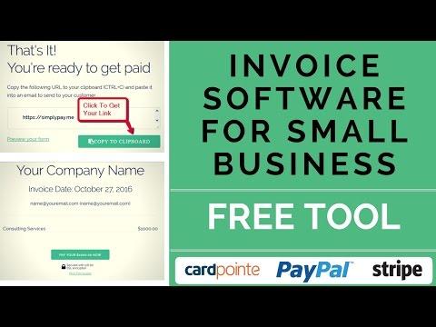 Invoice Software for Small Business - SimplyPay.me Invoicing Process [tutorial]