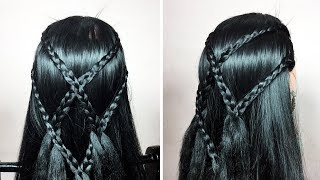 Best fashionable hairstyles | Woven open Braid Hairstyle