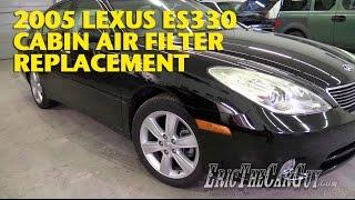 2001-2006 Lexus Es Cabin Filter Replacement -Ericthecarguy