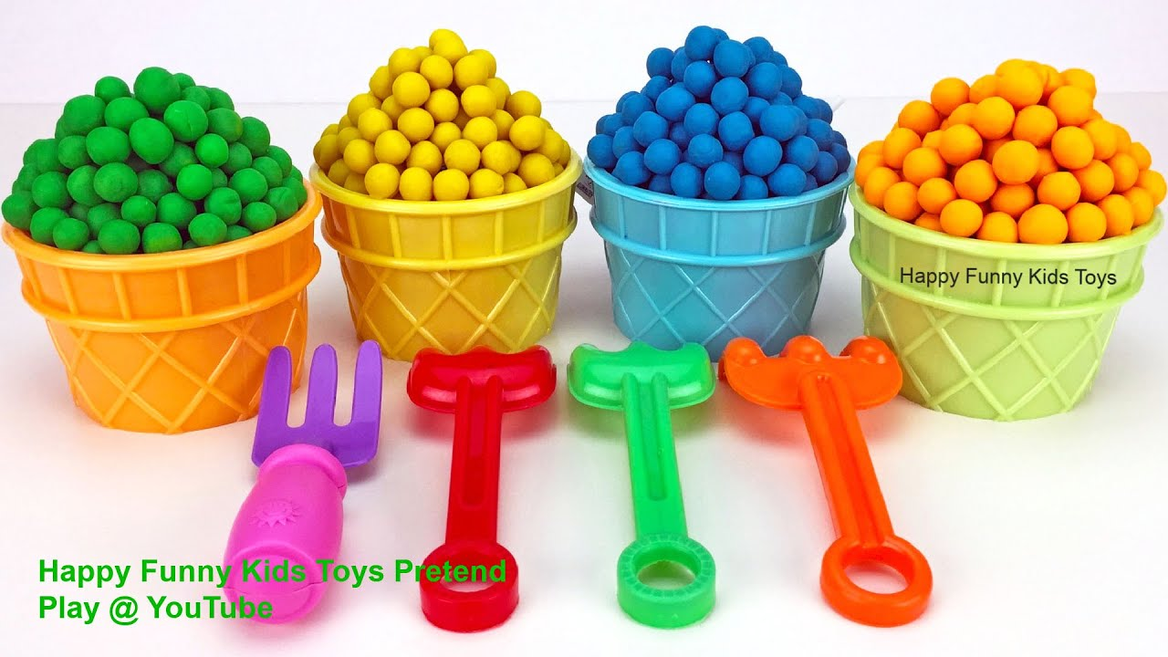 Learn Colors with Play Doh Dippin Dots | Kinder Surprise Eggs Zuru Surprise Toys