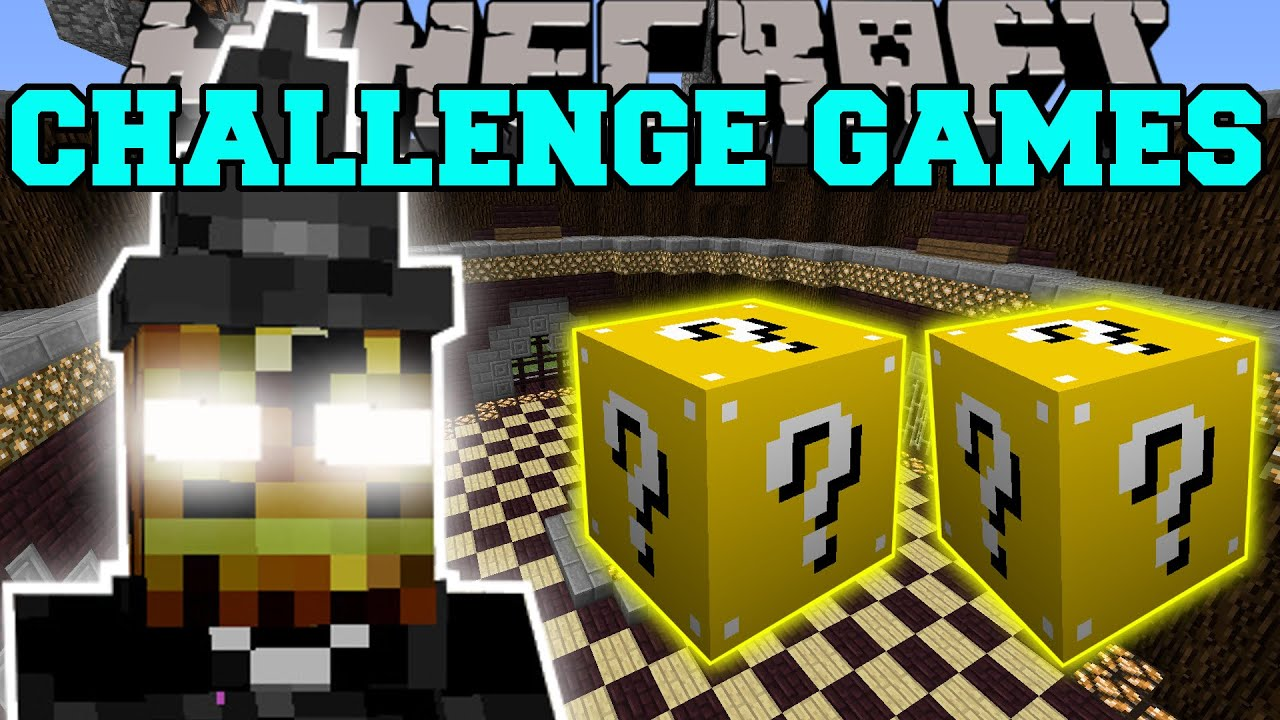 minecraft halloween witch challenge games lucky block mod modded mini game youtube