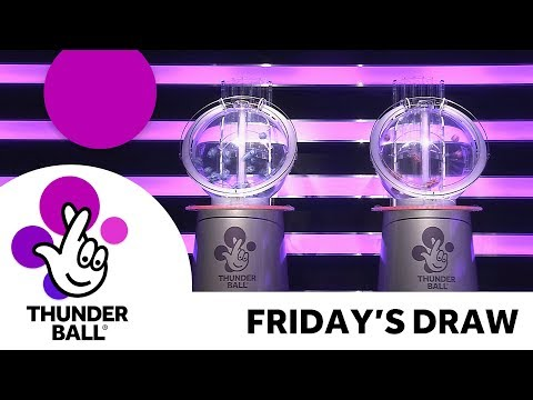 The National Lottery 'Thunderball' draw results from Friday 19th October 2018