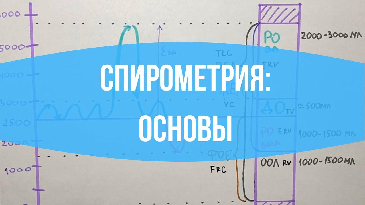 ДЫХАНИЕ: Спирометрия / Легочные объемы / Функция внешнего дыхания (ФВД)