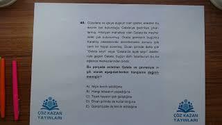 Çöz Kazan YGS 1Deneme Türkçe 40Soru