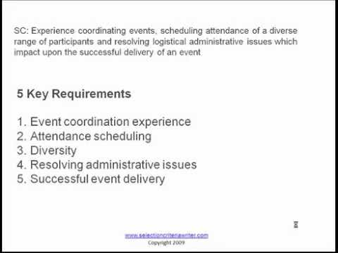 Selection Criteria Responses And Examples YouTube