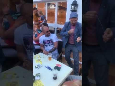 welsh magician MagicAsh performing magic in Spain