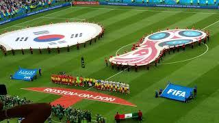 México vs korea en ( ROSTOV-ON-DON) el himno nacional en el mundial de Rusia 2018