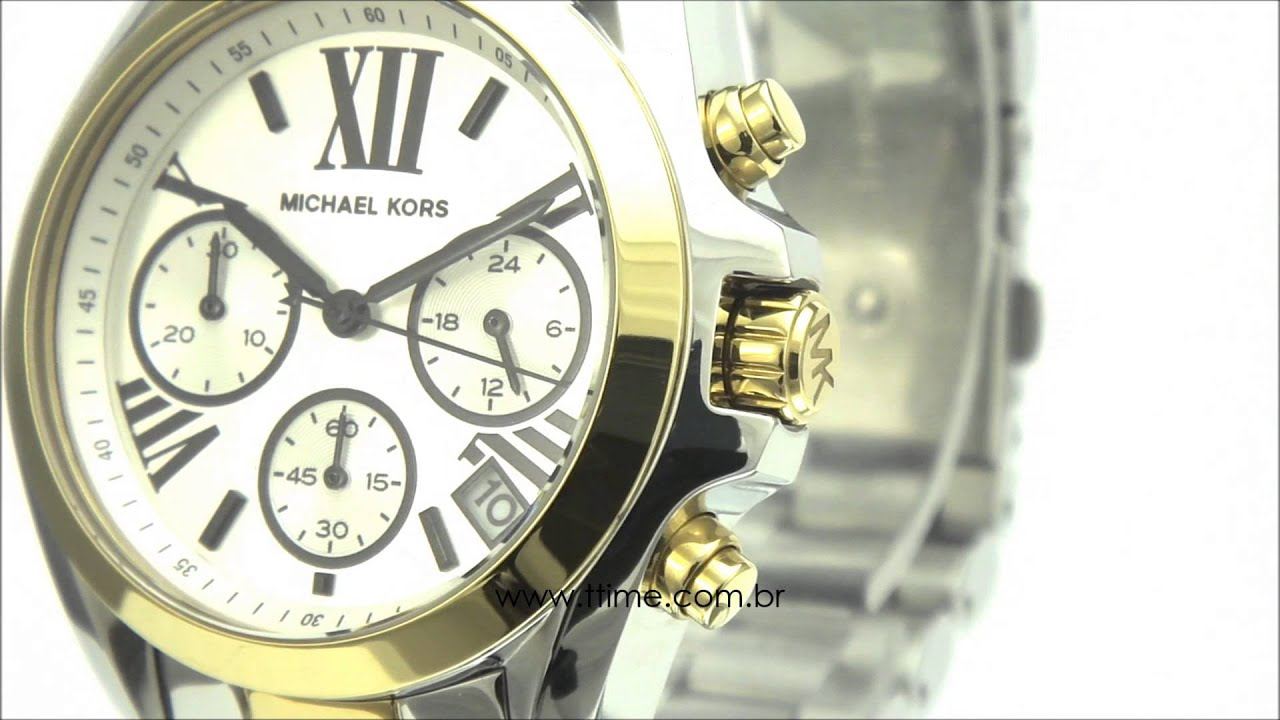 1a00cc345b8b7 Relógio Michael Kors Bradshaw MK5912 5BN - YouTube
