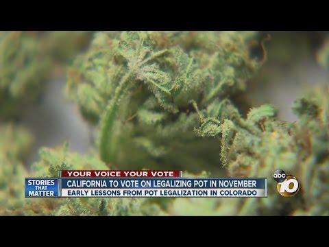 California To Vote On Legalizing Pot In November