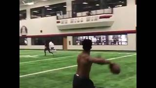 ANTONIO BROWN WORKING OUT WITH KYLER MURRAY