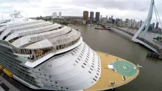 Worlds Largest Cruise Ship 'Harmony of the Seas' departing Rotterdam (Timelapse in 4K)