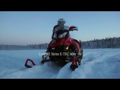 Lynx RE Xtrim E-TEC 800r -16 first trail & powder rides