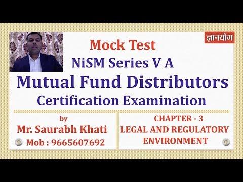 NiSM Mutual Fund Mock Test   Unit 3  Legal & Regulatory Environment - Part 2