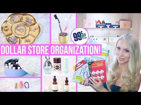 Dollar Store Organization Ideas! Easy Ways to Organize on a Budget